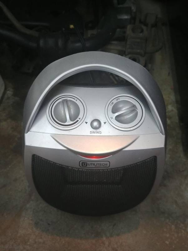 """This creepy heater winks at me!"""