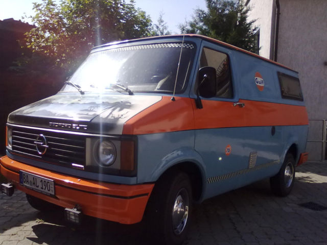 bcce0d3421 A Gulf racing paint job on a Bedford  Yes! This van would be nice to take  to the races and if you have a race car with a similar paint job to ...