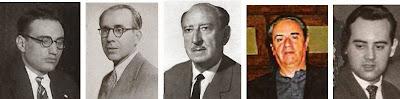 Los problemistas Joan Claret, Francesc Armengol, José Mandil, Jordi Breu y Lorenzo Ponce