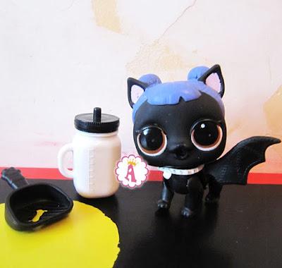 Собака из шара ЛОЛ Сюрприз 3 серия 1 волна Украине черная игрушка с крыльями