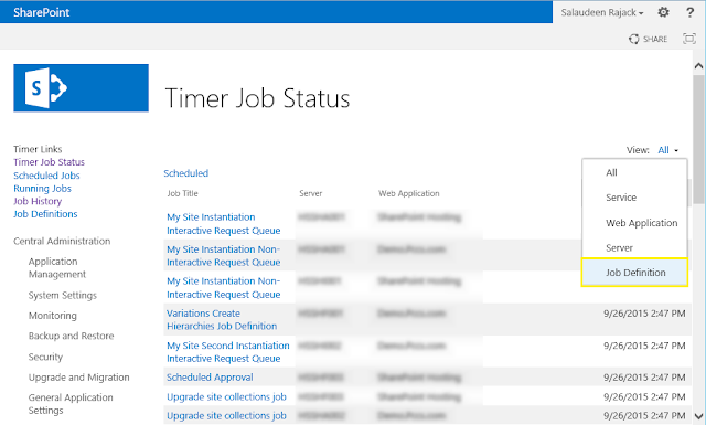 sharepoint 2013 powershell timer job history