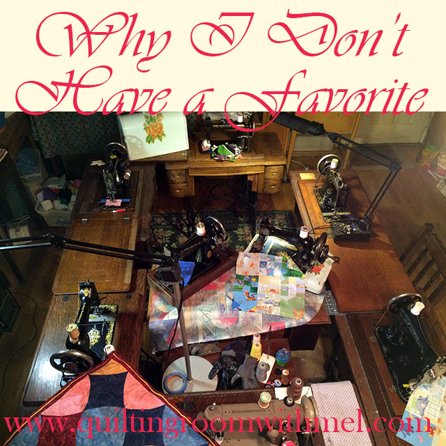 why i don't have a favorite treadle