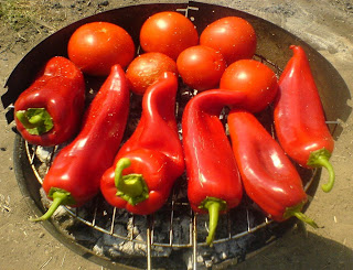 retete legume coapte la gratar, retete cu legume, retete culinare, rosii copate la gratar, ardei kapia copti la gratar, mancaruri cu legume,