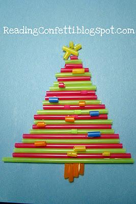 Albero Di Natale Con Cannucce Di Carta.Albero Di Natale Di Cannucce