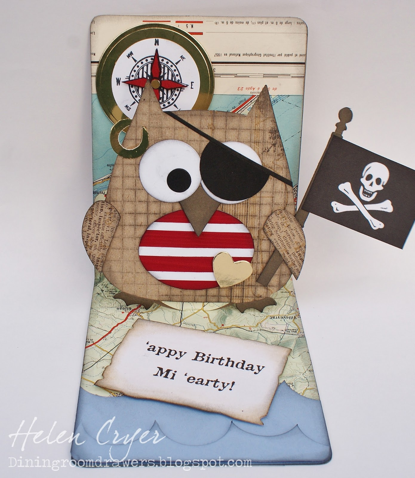 the dining room drawers pop 'n cuts owl card pirate