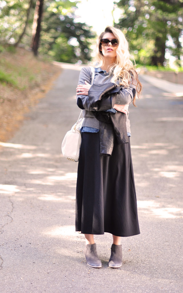 day to night outfit, light layers, 90's dress