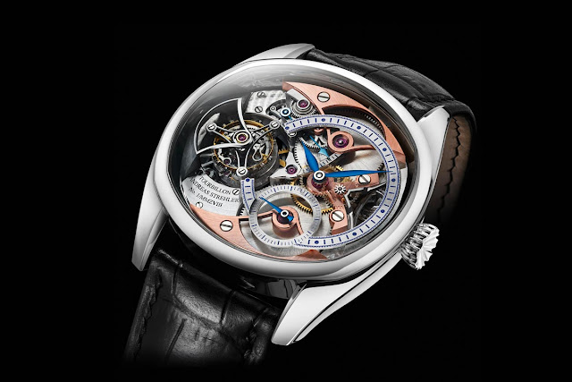 The Andreas Strehler Trans-axial Remontoir Tourbillon in platinum