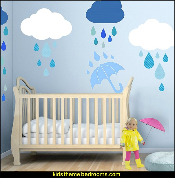 raindrops theme bedroom raindrops wall decal stickers raindrops bedroom decorating