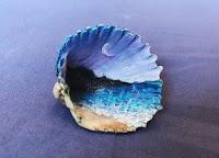 Manualidades : conchas pintadas a mano MAR