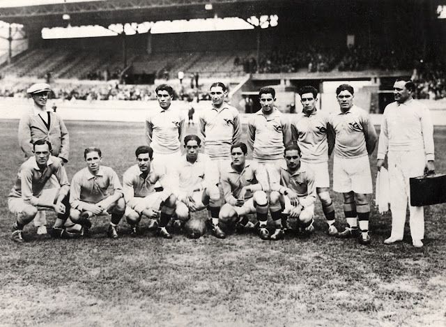 Formación de Chile ante Portugal, Juegos Olímpicos Ámsterdam 1928, 27 de mayo