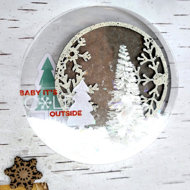 Embossed Artist Trading Coin Winter Shaker Feature by Dana Tatar