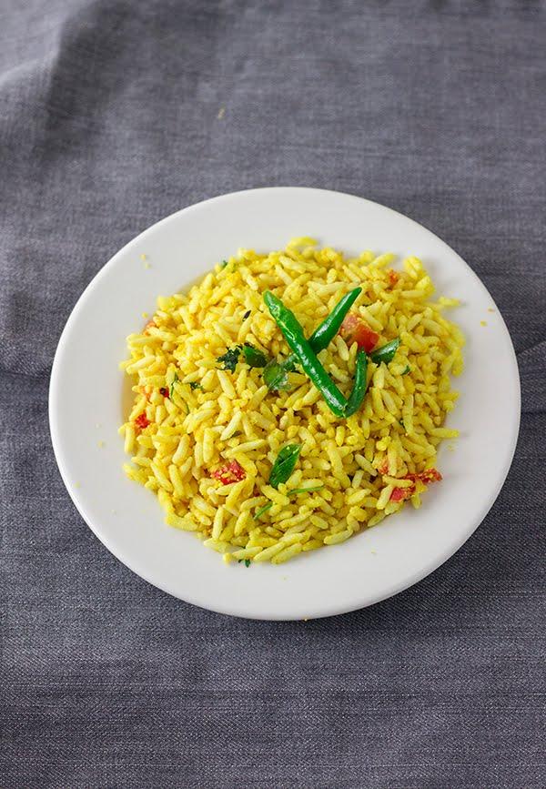 susla oggarne murmura kadle puri puffed rice breakfast vegan