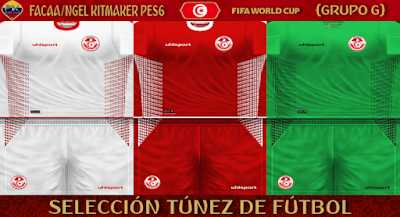 PES 6 Kits Tunisia National Team World Cup 2018 by FacaA/Ngel