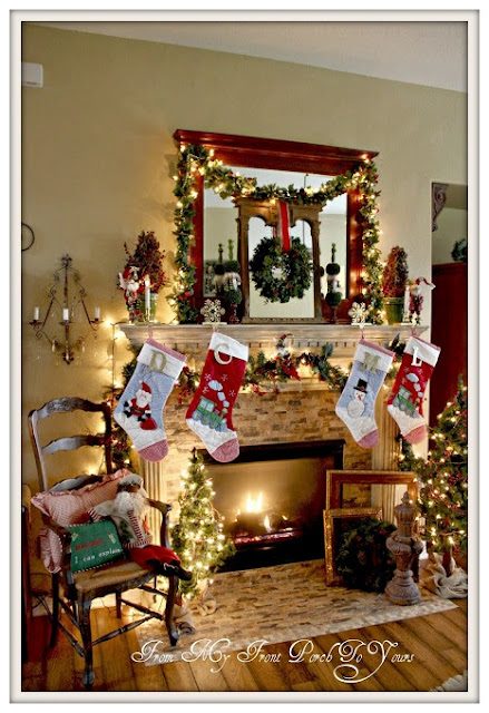 Traditional-Christmas- Mantel-Inspiration-From My Front Porch To Yours