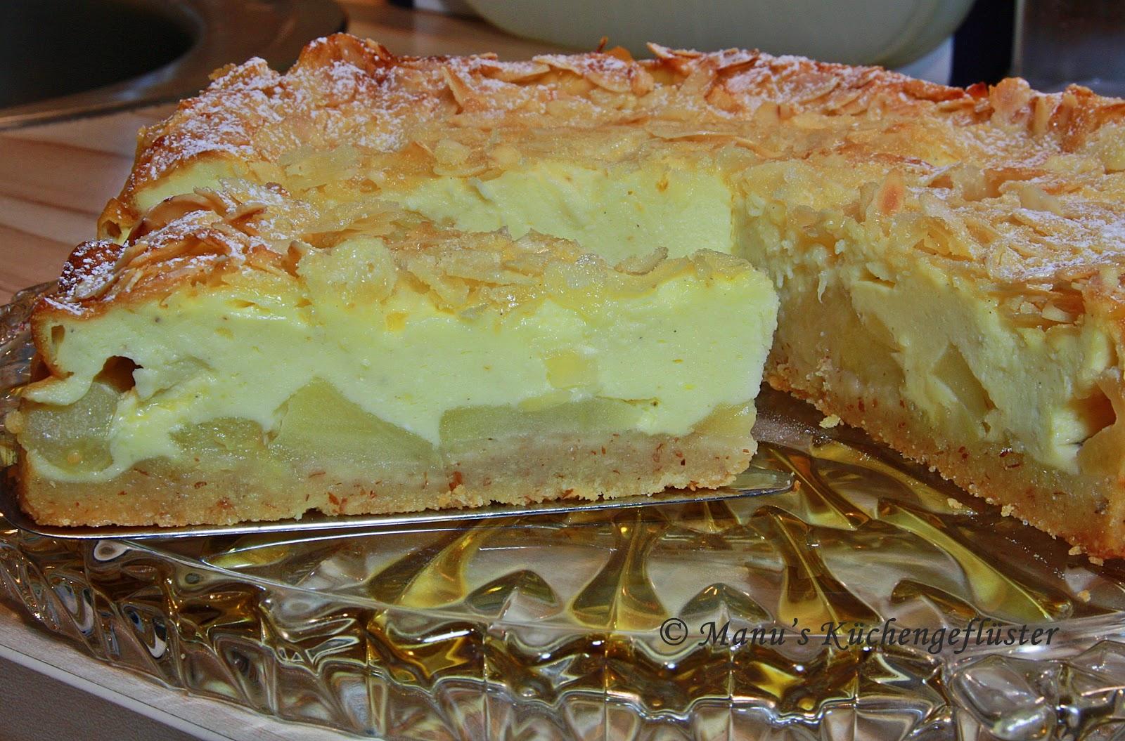 Manus Kuchengefluster Apfel Quark Kuchen Mit Mandelkruste