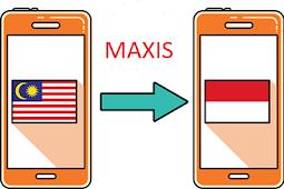 Cara transfer Pulsa maxis ke indonesia
