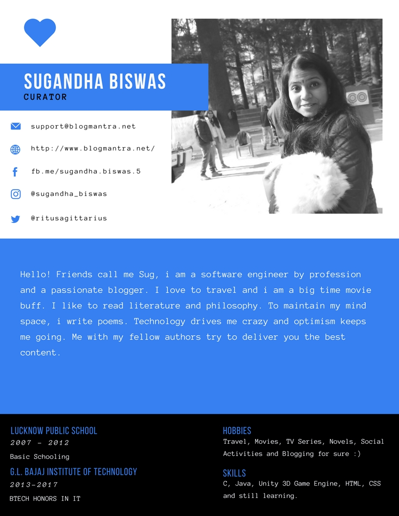 Sugandha biswas author of Blogmantra