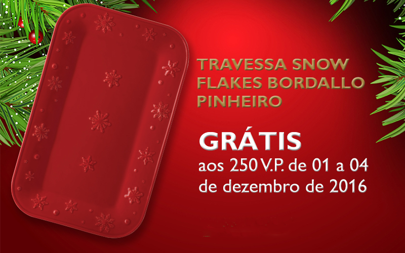 Travessa Snow Flakes Bordallo Pinheiro