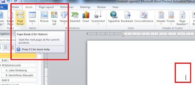 Cara Membuat Daftar Isi otomatis Di Microsoft Words