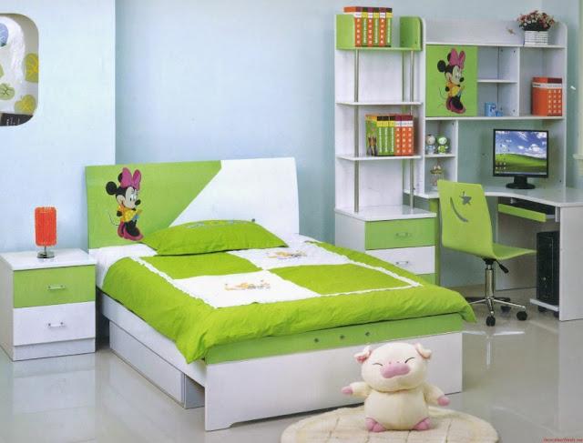 kamar tidur anak perempuan minimalis ukuran 3x3