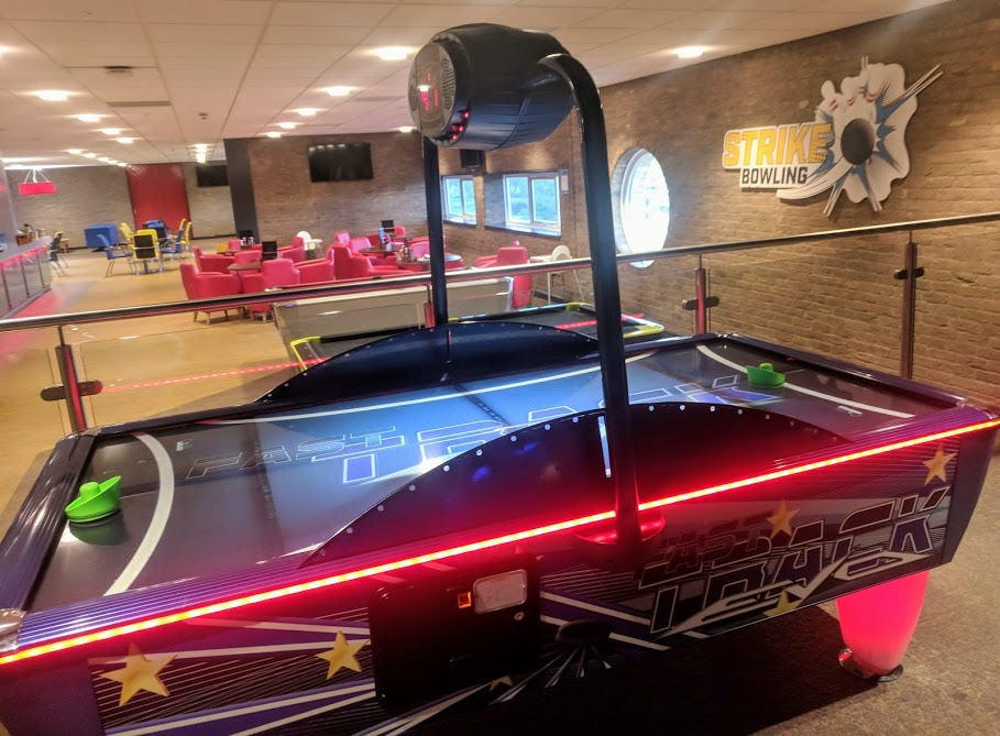 £1 Bowling at Concordia Leisure Centre, Cramlington  - air hockey table
