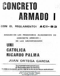 Resultado de imagen para Concreto Armado I y II - Juan Ortega Garcia.