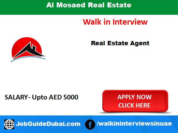 Job in dubai for real estate agent
