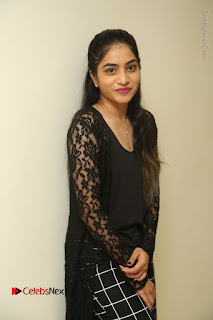 Actress Punarnavi Bhupalam Stills in Black Dress at Pittagoda Press Meet  0063.JPG
