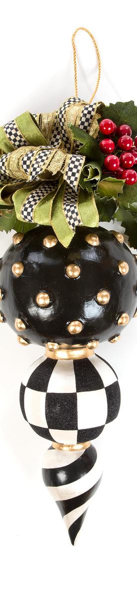 MacKenzie-Childs Deck the Halls Triple Christmas Ornament