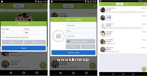 Encuentra amigas y amigos con la app Find and Add Friends for Kik