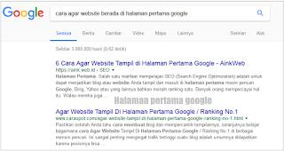 Gambar google page one