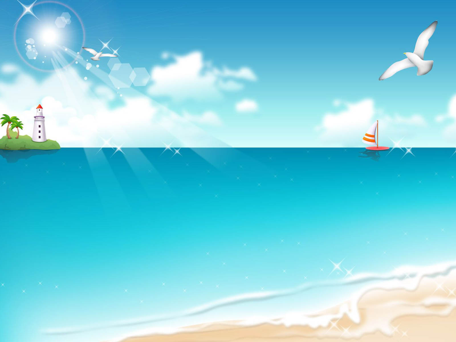 Wallpapers: Vector Beach