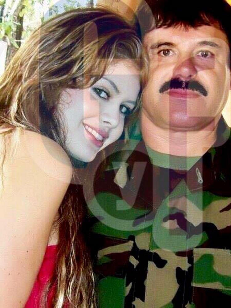 """Fotos:El """"Chapo"""" Guzmán y su novia secreta en fotos nunca publicadas"""