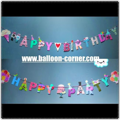 Bunting Banner HAPPY BIRTHDAY & HAPPY PARTY
