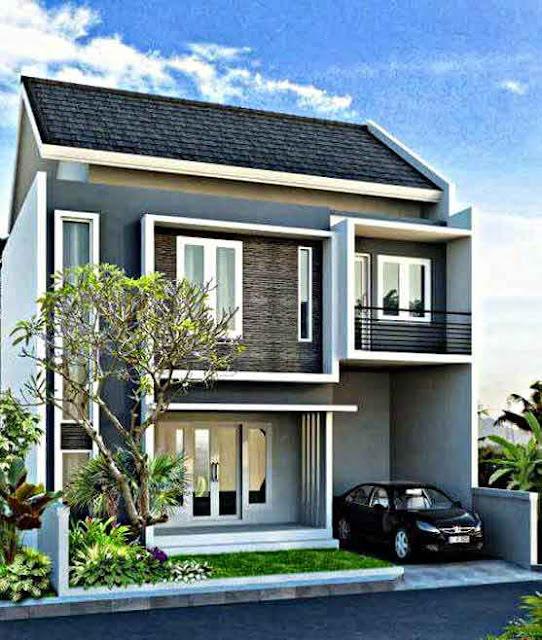 Inspirasi Model Desain Rumah Minimalis 2 Lantai Sederhana Cantik