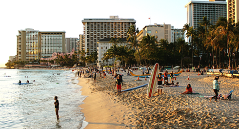 waikiki beach honolulu oahu