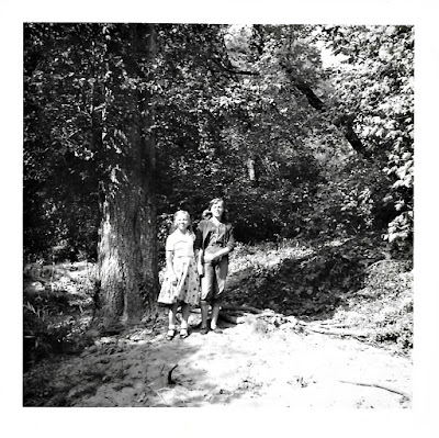 Lena Vasilev and Tanya Sarsfield in rural Marin County in the mid-1950's.