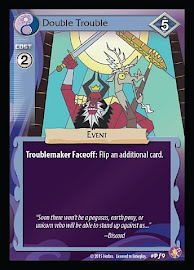 My Little Pony Double Trouble Absolute Discord CCG Card