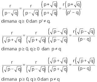 cara-cara merasionalkan bilangan dalam bentuk akar
