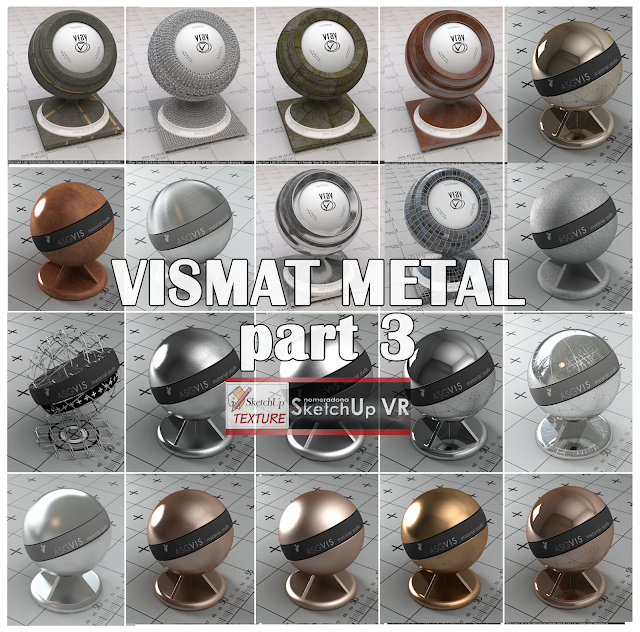 vray for sketchup vismat metals