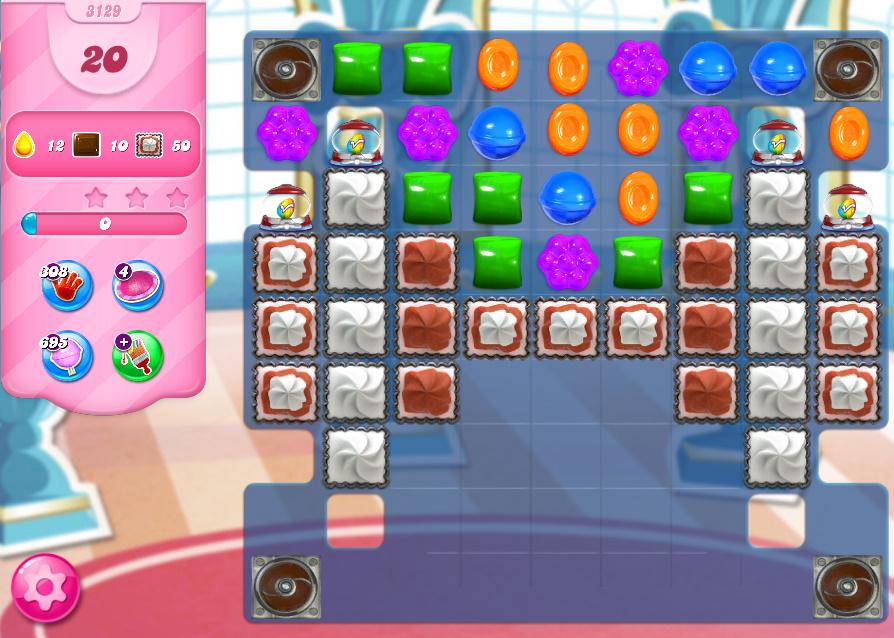 Candy Crush Saga level 3129