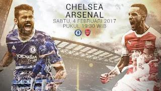 Prediksi Chelsea Vs Arsenal Sabtu 4 Februari 2017