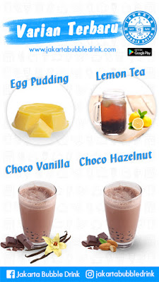 jual egg pudding powder jakarta bubble drink
