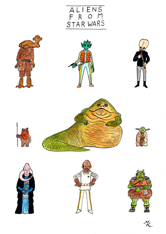 ALIENS FROM STARWARS