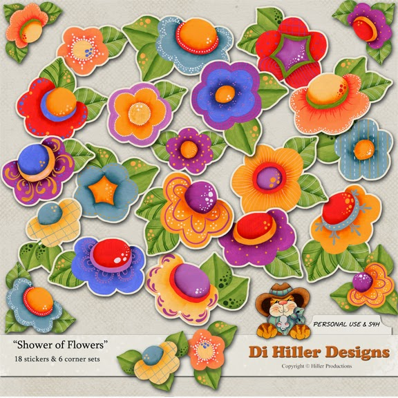 Shower of Flowers Stickers