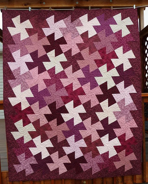 Lovely Twister Quilt Free Tutorial