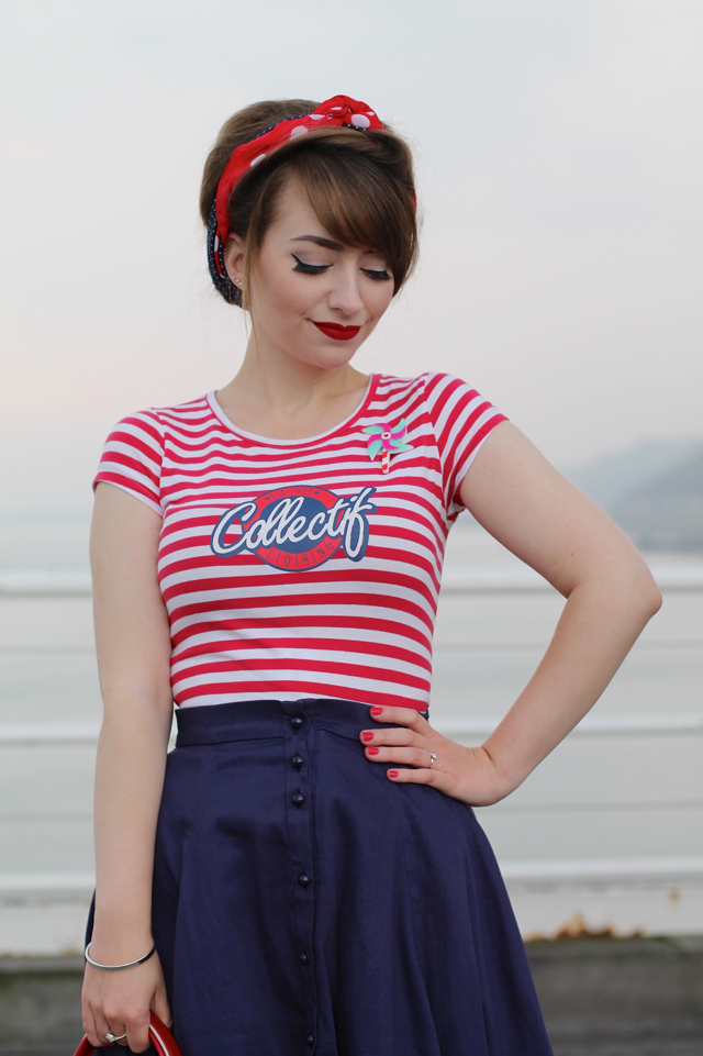 Collectif striped t-shirt