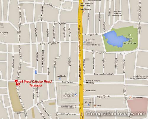 mapa ir a Kakku