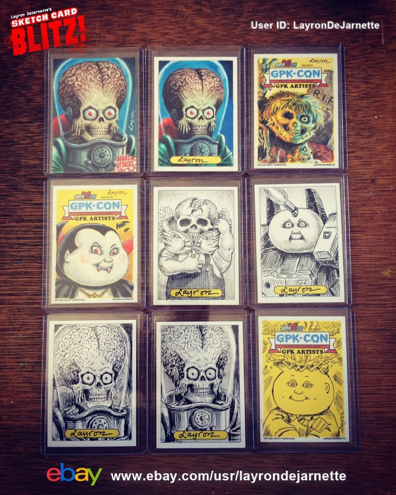 Dejarnette Designs For Sale Sketch Cards And 2017 Philly Non Sports Card Show Excluisives