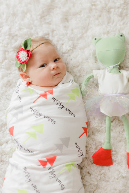 Baby's first Christmas swaddle blanket